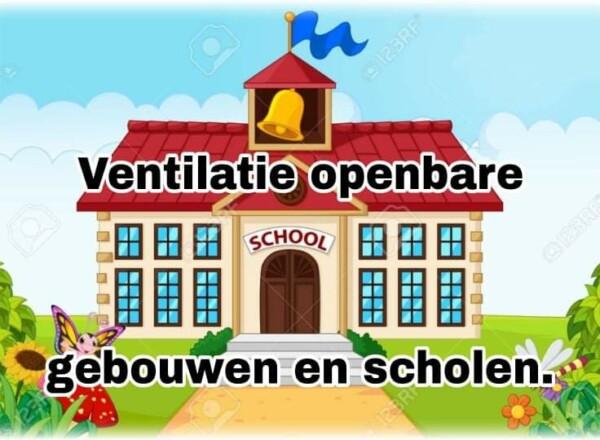 Ventilatie openbare gebouwen en scholen.